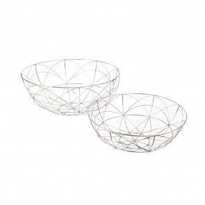 S/2 Silver Da Vinci Bowls