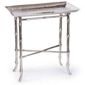 Nickel Bamboo Tray Table