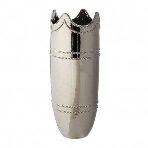 Monarch Ceramic Vase-Silver