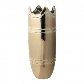 Monarch Ceramic Vase- Gold
